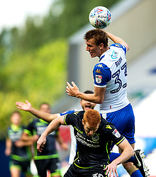 Rory Gaffney of Bristol Rovers challenges Dan Burn of Wigan Athletic - Mandatory by-line: Matt McNulty/JMP - 16/09/2017 - FOOTBALL - DW Stadium - Wigan, England - Wigan Athletic v Bristol Rovers - Sky Bet League One