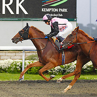 Coco Rouge and Hayley Turner winning the 7.50 race
