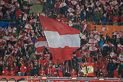 VIENNA, AUSTRIA - Thursday, October 6, 2016: Austria supporters before the 2018 FIFA World Cup Qualifying Group D match against Wales at the Ernst-Happel-Stadion. (Pic by David Rawcliffe/Propaganda)