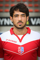 Thibault Peyre pictured during the 2015-2016 season photo shoot of Belgian first league soccer team Royal Mouscron Peruwelz, Thursday 16 July 2015 in Mouscron.