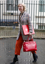 © Licensed to London News Pictures. 17/12/2019. London, UK. Liz Truss Trade Secretary leaves Downing Street after the first Cabinet meeting with Prime Minister Boris Johnson. Photo credit: Alex Lentati/LNP