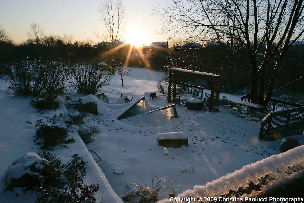 Sunrises in Erlanger, Kentucky February 1st, 2009 on a bitter cold morning. (Christina Paolucci, photographer).