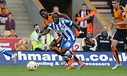 Brighton winger, Elvis Manu on his debut during the Sky Bet Championship match between Wolverhampton Wanderers and Brighton and Hove Albion at Molineux, Wolverhampton, England on 19 September 2015.