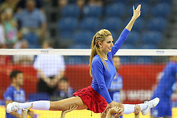 07.09.2014, Krakow Arena, Krakau, POL, FIVB WM, Frankreich vs Belgien, Gruppe D, im Bild Cheerleaders Atelier // during the FIVB Volleyball Men's World Championships Pool D Match beween France and Belgium at the Krakow Arena in Krakau, Poland on 2014/09/07. EXPA Pictures © 2014, PhotoCredit: EXPA/ Newspix/ Tomasz Jastrzebowski<br /> <br /> *****ATTENTION - for AUT, SLO, CRO, SRB, BIH, MAZ, TUR, SUI, SWE only*****