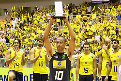 Serginho foi eleito melhor jogador do campeonato Sul-Americano de vôlei disputado no estádio Aecim Tocantins, em Cuiaba-MT. FOTO: Jefferson Bernardes / Preview.com