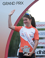 Sophie Williams  runner up  Prudential RideLondon Grand Prix Youth Girls&rsquo; Race , during Prudential RideLondon,  2015 Saturday 1st August, 2015. <br /> <br /> Prudential RideLondon is the world&rsquo;s greatest festival of cycling, involving 95,000+ cyclists &ndash; from Olympic champions to a free family fun ride - riding in five events over closed roads in London and Surrey over the weekend of 1st and 2nd August 2015. <br /> <br /> Photo: Jon Buckle for Prudential RideLondon<br /> <br /> See www.PrudentialRideLondon.co.uk for more.<br /> <br /> For further information: Penny Dain 07799 170433<br /> pennyd@ridelondon.co.uk