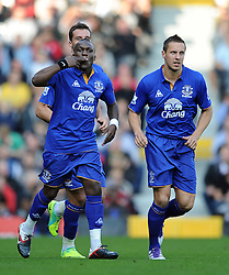 23.10.2011, Craven Cottage, London, ENG, PL, FC Fulham vs FC Everton, im Bild Everton's Royston Drenthe celebrates scoring the opening goal // during the Premier League match between FC Fulham vs FC Everton, at Craven Cottage stadium, London, United Kingdom on 23/10/2011. EXPA Pictures © 2011, PhotoCredit: EXPA/ Propaganda Photo/ Chris Brunskill +++++ ATTENTION - OUT OF ENGLAND/GBR+++++