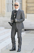 07.JULY.2011. PARIS<br /> <br /> KARL LAGERFELD ARRIVES AT ELYSEE PALACE TO HONOUR DISTINGUISHED PERSONALITIES, IN PARIS<br /> <br /> BYLINE: EDBIMAGEARCHIVE.COM<br /> <br /> *THIS IMAGE IS STRICTLY FOR UK NEWSPAPERS AND MAGAZINES ONLY*<br /> *FOR WORLD WIDE SALES AND WEB USE PLEASE CONTACT EDBIMAGEARCHIVE - 0208 954 5968*