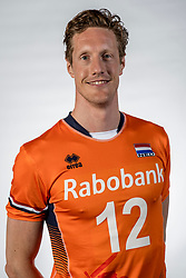10-05-2017 NED: Selectie Nederlands volleybal team mannen 2017, Arnhem<br /> Op Papendal werd de selectie gepresenteerd / Kay van Dijk #12