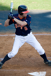 Virginia Cavaliers INF John Weaver (6)..The Virginia Cavaliers baseball team held a seven game Orange and Blue World Series at Davenport Field in Charlottesville, VA.  Images are from Game 6 held on October 22, 2007.