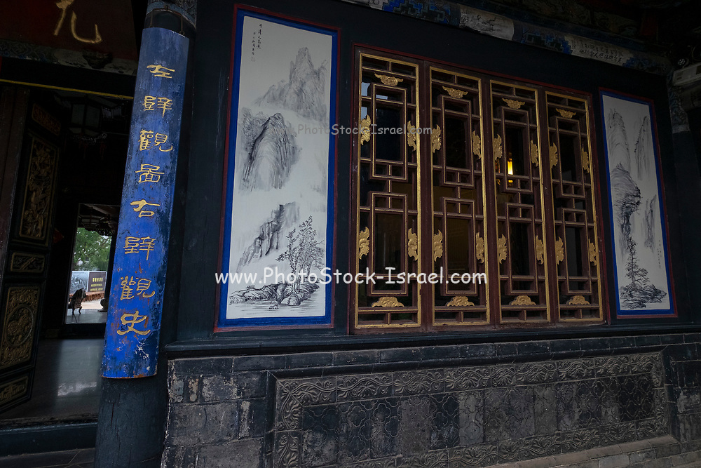 Carved wood doors Interior courtyard, Zhu Family house, Jianshui Ancient Town, Yunnan Province, China