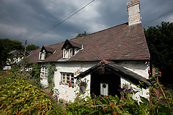 UK ENGLAND ENGLAND SHROPSHIRE LLANYBLODWEL 1JUL15 - Thatched roof cottage near the river Tanat in Llanyblodwel, part of the river Severn catchment area.<br /> <br /> <br /> <br /> jre/Photo by Jiri Rezac<br /> <br /> <br /> © Jiri Rezac 2015