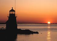 The Brandt Point Lighthouse at sunrise on Nantucket Island, Massachussetts, New England U.S.A.