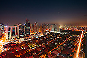 Philippines, Manilla, City views of Makati district at night.<br /> <br /> Photo: &copy; ZuteLightfoot