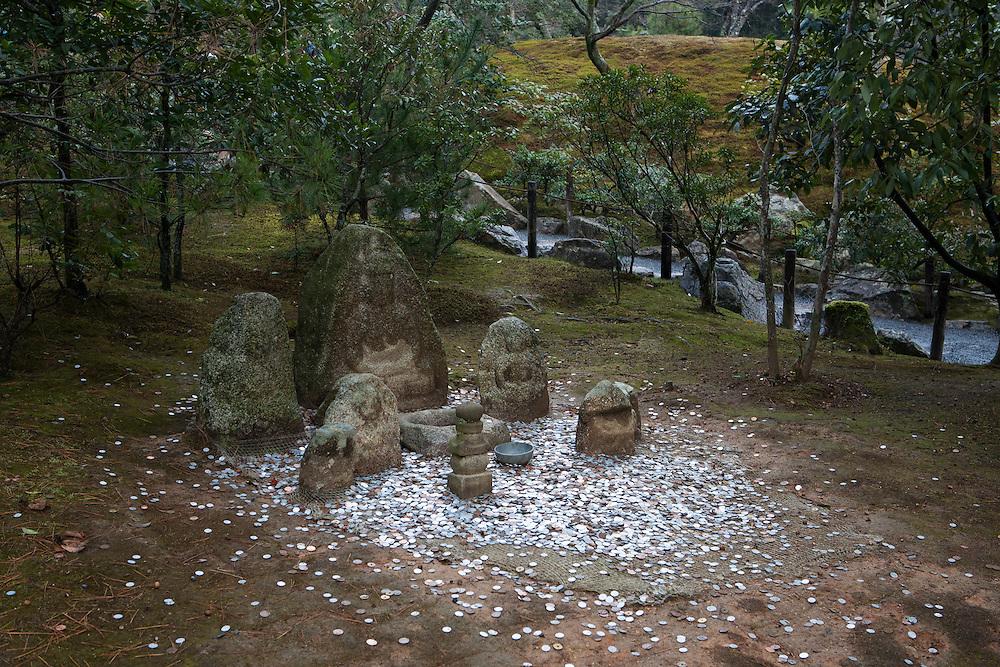 Kyoto, Japan, December 30, 2010. In the garden of the Kinkakuji Temple.