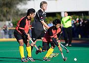 Nor Hizzat of Malaysia juniors in action, Junior Black Sticks Men vs Malaysia Juniors international Under 21 Hockey, 7 June 2011, Alexander McMillan Hockey Centre Dunedin, New Zealand. Photo: Richard Hood/photosport.co.nz