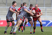 Lee Mossop for Salford Reds during the Betfred Super League match between Salford Red Devils and Catalan Dragons at the AJ Bell Stadium, Eccles, United Kingdom on 30 March 2018. Picture by George Franks.