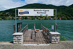 ROTTACH-EGERN, GERMANY - Wednesday, July 26, 2017: A touristr cruise boat jetty on Lake Tegernsee from Rottach-Egern, the base for Liverpool's preseason training camp in Germany. (Pic by David Rawcliffe/Propaganda)