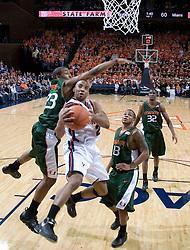 The University of Virginia Cavaliers defeated the Miami Hurricanes Men's Basketball Team 81-70 at the John Paul Jones Arena in Charlottesville, VA on February 3, 2007.