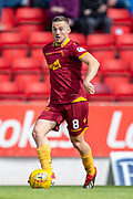 Allan Campbell (#8) of Motherwell FC runs with the ball during the Ladbrokes Scottish Premiership match between St Johnstone and Motherwell at McDiarmid Stadium, Perth, Scotland on 11 May 2019.