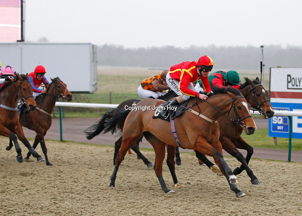 West Leake and L P Keniry winning the 3.40 race