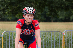Lauren Hall of National Team USA after the finish at the Holland Ladies Tour, 's-Heerenberg, Gelderland, The Netherlands, 1 September 2015.<br /> Photo: Pim Nijland / PelotonPhotos.com