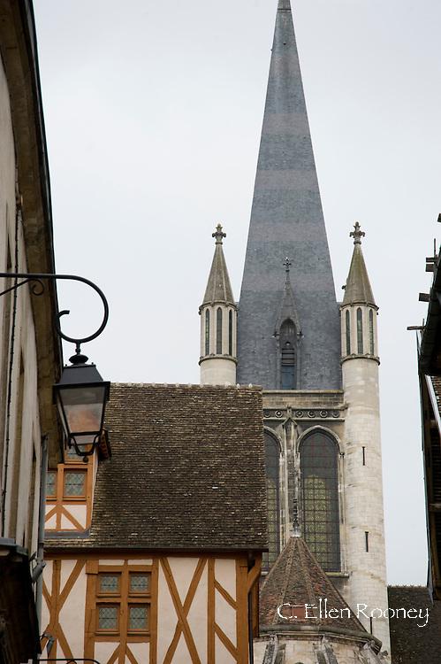 Old buildings in Dijon, France