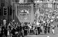 Frickley Branch banner. 1992 Yorkshire Miners Gala, Barnsley.