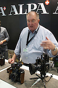 Photokina 2010, World's biggest bi-annual photo fair. Thomas Weber introducing the Alpa iPhone viewfinder holder accessory.