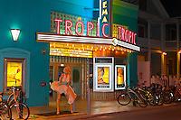 """Forever Marilyn"" sculpture (by Seward Johnson), Tropic Cinema, Key West, Florida Keys, Florida USA"
