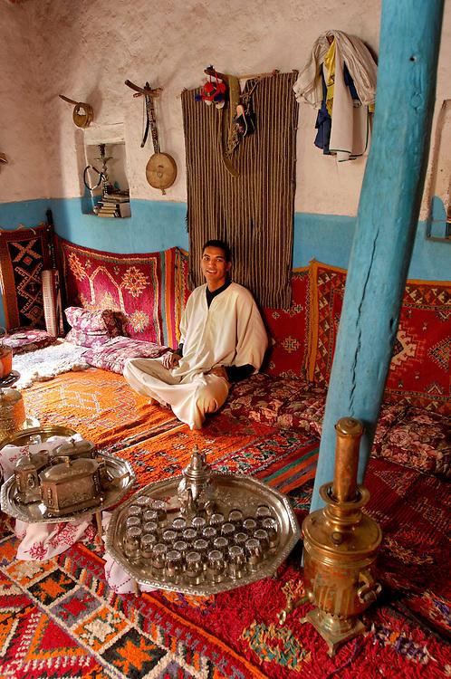 Rashid, La Maison Traditionelle, Oumesnate, Ameln Valley near Tafraoute, Morocco