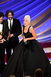 Mark Ronson, Andrew Wyatt, and Lady Gaga accept the Oscar® for achievement in music written for motion pictures (original song) during the live ABC Telecast of The 91st Oscars® at the Dolby® Theatre in Hollywood, CA on Sunday, February 24, 2019.