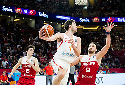 Pau Gasol of Spain vs Semih Erden of Turkey during basketball match between National Teams of Spain and Turkey at Day 11 in Round of 16 of the FIBA EuroBasket 2017 at Sinan Erdem Dome in Istanbul, Turkey on September 10, 2017. Photo by Vid Ponikvar / Sportida