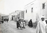 Morocco street scene early 1900s