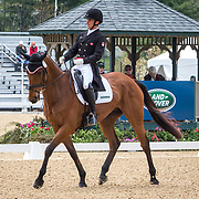 Waylon Roberts (CAN) and Kelecyn Cognac during the dressage phase of the 2018 Land Rover Kentucky Three-Day Event in Lexington, Kentucky.