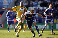 Leicester - Saturday, February 16th, 2008: Gareth McAuley (R) of Leicester City and Dion Dublin (L) of Norwich City during the Coca Cola Championship match at the Walkers Stadium, Leicester. (Pic by Mark Chapman/Focus Images)