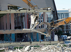Christchurch-Earthquake damaged Addington Grandstand demolished