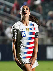 October 11, 2018 - Cary, North Carolina, United States - CARY, NC - OCTOBER 10: .Alex Morgan of USA .During CONCACAF Women's Championship Group A match between Trinidad and Tobago against USA at Sahlen's Stadium, Cary, North Carolina. on October 10, 2018  (Credit Image: © Action Foto Sport/NurPhoto via ZUMA Press)