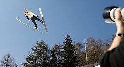 17.03.2012, Planica, Kranjska Gora, SLO, FIS Ski Sprung Weltcup, Team Skifliegen, im Bild Martin Koch (AUT),   during the FIS Skijumping Worldcup Flying Hill Team, at Planica, Kranjska Gora, Slovenia on 2012/03/17. EXPA © 2012, PhotoCredit: EXPA/ Oskar Hoeher.
