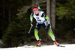 Miha Dovzan (SLO) in action during the Pursuit Men 12,5 km at day 8 of IBU Biathlon World Cup 2018/19 Pokljuka, on December 9, 2018 in Rudno polje, Pokljuka, Pokljuka, Slovenia. Photo by Urban Urbanc / Sportida