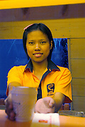 Female Employee at a Fast food diner, Thailand