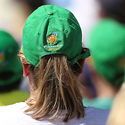 March 20, 2016, Palm Springs, CA:<br /> BNP Paribas hats are shown during the men's final match between Novak Djokovic and Milos Raonic during the 2016 BNP Paribas Open at the Indian Wells Tennis Garden in Indian Wells, California Sunday, March 20, 2016.<br /> (Photos by Billie Weiss/BNP Paribas Open)