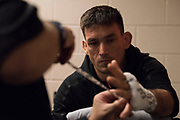 DALLAS, TX - MAY 13:  Demian Maia has his hands wrapped before fighting Jorge Masvidal during UFC 211 at the American Airlines Center on May 13, 2017 in Dallas, Texas. (Photo by Cooper Neill/Zuffa LLC/Zuffa LLC via Getty Images) *** Local Caption *** Demian Maia
