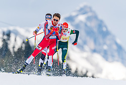 02.03.2019, Seefeld, AUT, FIS Weltmeisterschaften Ski Nordisch, Seefeld 2019, Nordische Kombination, Langlauf, Team Bewerb 4x5 km, im Bild Jarl Magnus Riiber (NOR) // Jarl Magnus Riiber of Norway during the Cross Country Team competition 4x5 km of Nordic Combined for the FIS Nordic Ski World Championships 2019. Seefeld, Austria on 2019/03/02. EXPA Pictures © 2019, PhotoCredit: EXPA/ Stefan Adelsberger