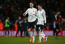 Kevin Mirallas of Everton celebrates their win over Bournemouth - Mandatory by-line: Jason Brown/JMP - Mobile 07966 386802 20/02/2016 - SPORT - FOOTBALL - Bournemouth, Vitality Stadium - AFC Bournemouth v Everton - The Emirates FA Cup