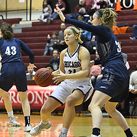 January 26, 2020: University of Chicago Maroons (16) vs. Brandeis Judges at Gerald Ratner Athletics Center in Chicago, IL. Chicago wins 68 - 60 in overtime. Dean Reid/D3Photography