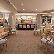 Residential lounge at assisted living facility.