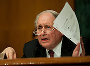 Apr 27,2010 - Washington, District of Columbia USA - .Senator Carl Levin, Chairman of the Senate Homeland Security and Governmental Affairs subcommittee, grills Daniel Sparks, the former head of Goldman's mortgage department, during a  hearing on Tuesday. (Credit Image: © Pete Marovich Images)
