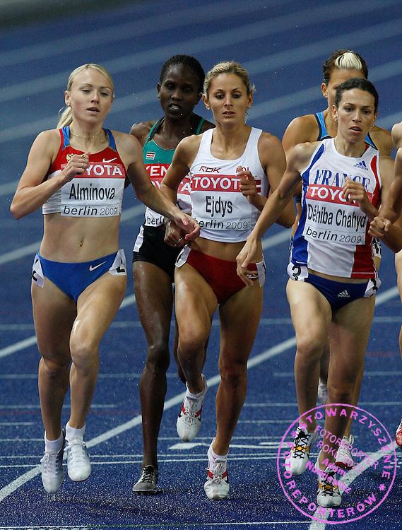 BERLIN 21/08/2009.12th IAAF World Championships in Athletics Berlin 2009.1500 Metres Women - Semifinal.Sylwia Ejdys of Poland ..Phot: Piotr Hawalej / WROFOTO