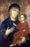 Madonna and Child.  Berlinghiero (active by 1228, d1236) Italian artist. Tempera on wood, gold ground.